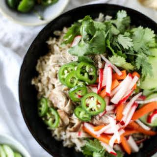 Slow Cooker Banh Mi Rice Bowls.