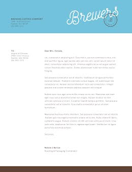 Brewers Letter - Letterhead item