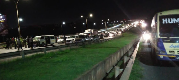 Nairobi motorists were on Saturday night stranded as police blocked major roads during curfew.