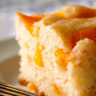 Peach Cobbler Snack Cake.