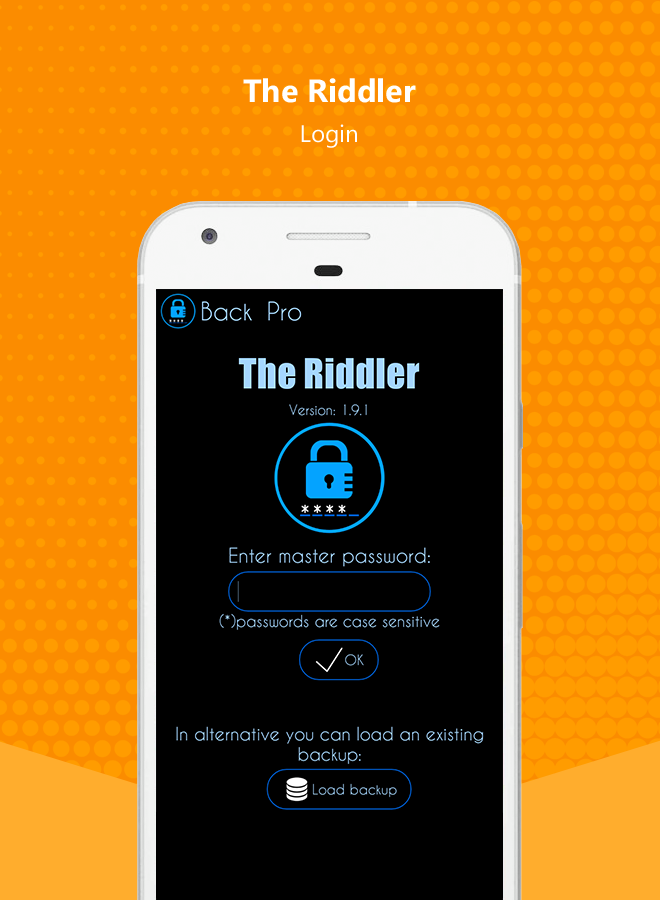 Riddler: Safe Password Manager- screenshot