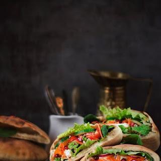 Veggie Pita Sandwich.