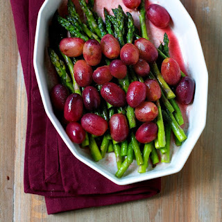 Sautéed Asparagus and Grapes