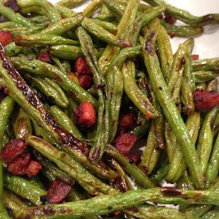 Roasted Green Beans and Chorizo
