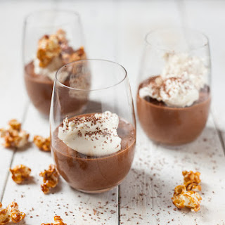 Chocolate Mousse with Salted Caramel Popcorn.