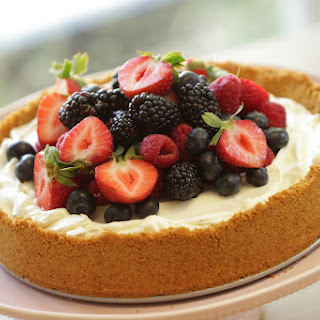Beth's Triple Berry, No-Bake Cheesecake