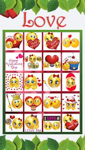 Valentine Love Emojis - náhled
