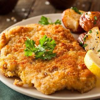 Fried Traditional Chicken Schnitzel Recipe