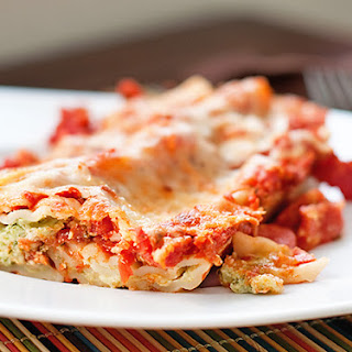 Four Cheese Spinach Manicotti