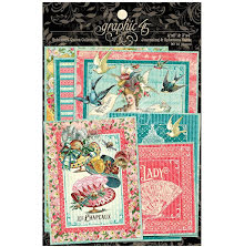 Graphic 45 Ephemera & Journaling Cards - Ephemera Queen