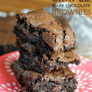 Simple Dark Chocolate Brownies.