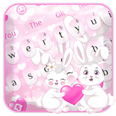Cute Bunny Pink Love Keyboard Android APK Download Free By Penmouse Design Technologies
