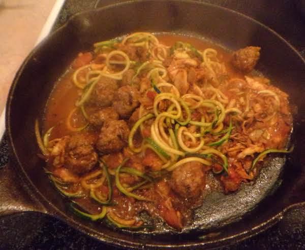 Meatballs With Zucchini Spaghetti