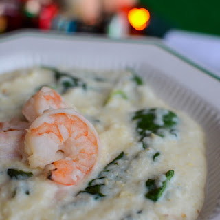 Grits with Greens and Shrimp Recipe