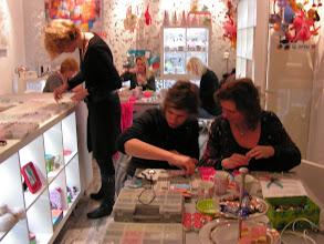 Photo: 1ste geboekte workshop in de shop, 9 vrouwen, 21-01-11