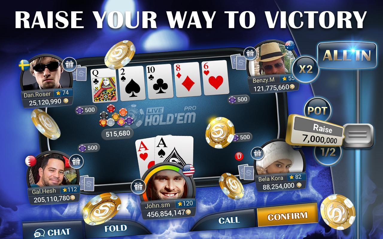 Live hold'em poker pro free chips