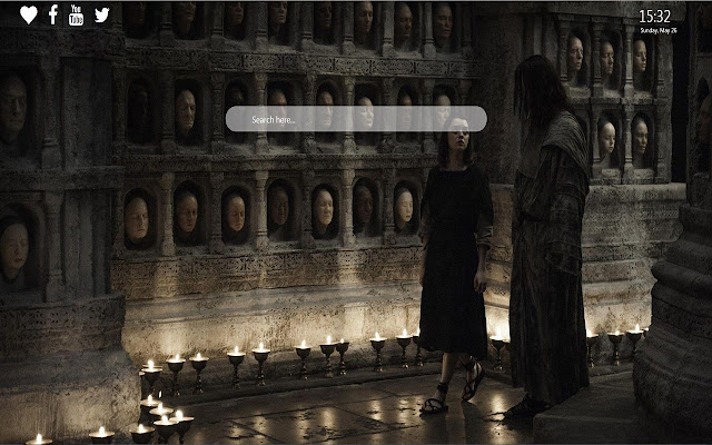 Arya Stark Wallpaper Theme for Google Chrome