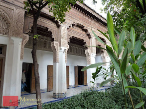 Photo: Bahia Palace, a palace and a set of gardens located in Marrakech which was built in the late 19th century. It comprised of a series of walled gardens, pavilions and courtyard structures arranged in various scales. The whole complex is quite large, covering eight hectares.