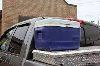 Photo: Does anybody recognize this cooler?  Left at PBA back in the Spring.