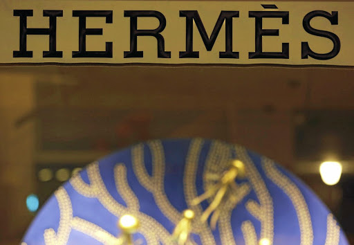 The Hermes sign outside the luxury group's shop in Bordeaux, France. Picture: REUTERS