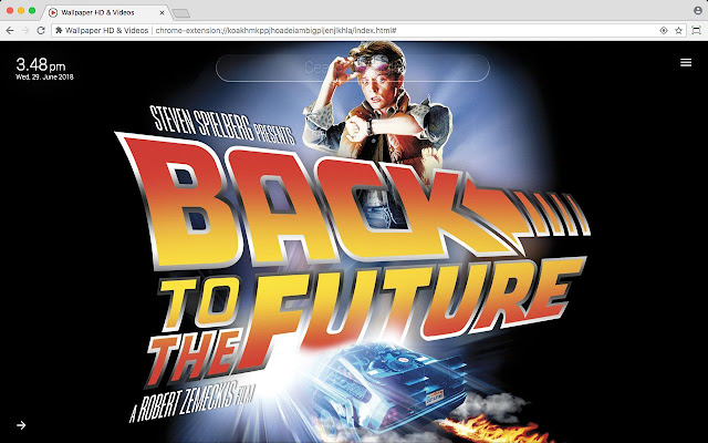 Movies of the 80s HD Wallpaper New Tab Theme