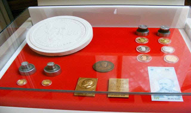 EXHIBIT AT ROMANIAN CENTRAL BANK IN BUCHAREST