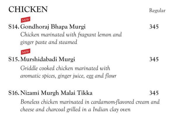 Oh! Calcutta menu 3