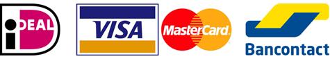 Logo iDEAL, creditcard, Bancontact