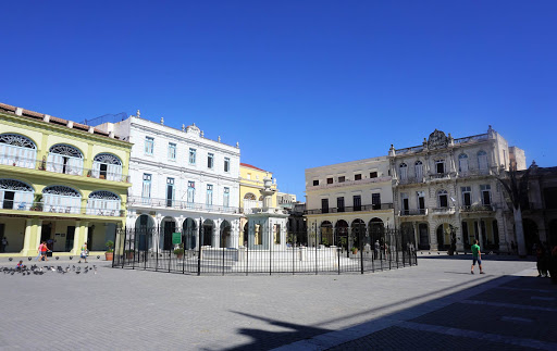 "Plaza-Vieja.jpg -  Plaza Vieja (""Old Square"") in Old Havana is home to a local brewery, cafes, a planetarium and a school nearby."