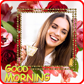 Good morning photo frame