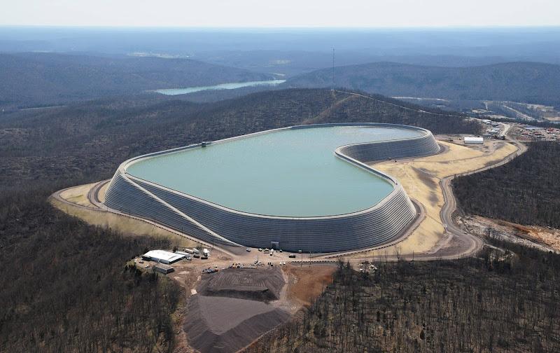Photo: Гидроаккумулирующая электростанция (ГАЭС) Taum Sauk, штат Миссури, США.