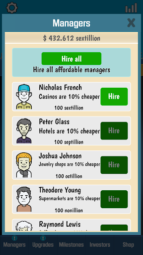 business tycoon - idle clicker screenshot 3