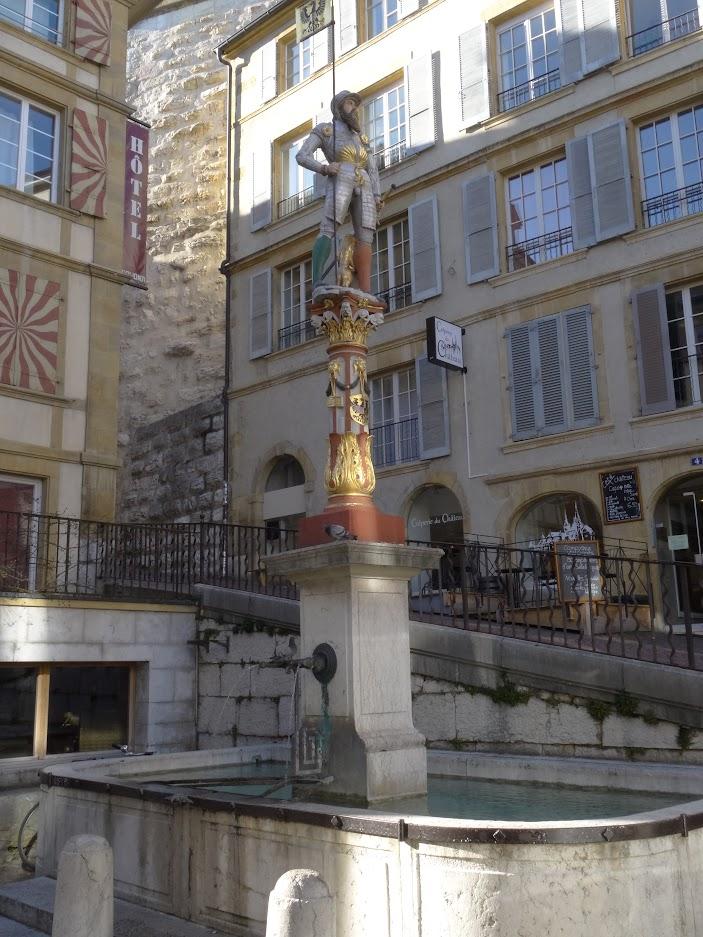 Fontaine Banneret à Neuchâtel