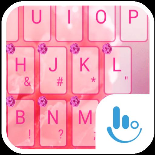 Pink Carnation Keyboard Theme