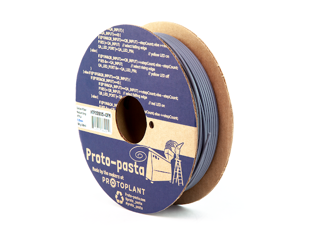 Proto-Pasta Carbon Fiber Medium Gray HTPLA Filament - 1.75mm (0.5kg)