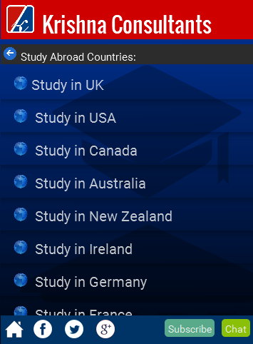 Studies Overseas- screenshot