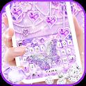 Purple Lux Butterfly Keyboard Background icon