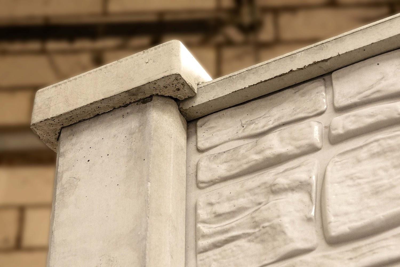 Afdekhoed beton omheining vlak