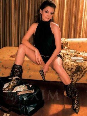 Dia Mirza maxim photoshoot, Dia Mirza in black , Dia Mirza with gun, Dia Mirza feet, Dia Mirza legs,