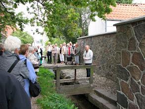 Photo: Her får vi historien om Bybækken. I dag er Bybækken yngleplads for Havørreder.