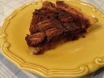 Chocolate Armagnac Pecan Tart
