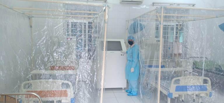 Buồng áp âm được lắp đặt tại Phòng khám đa khoa khu vực Quang Hà