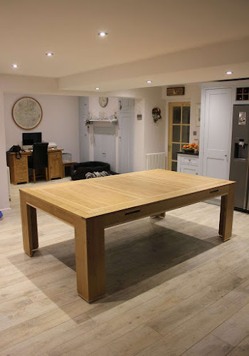 Light wood dining room table
