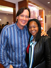 """Photo: Photo: Kevin Sorbo (""""Hercules"""") and event publicist, Danielle Marie Owens. Photo credit: Popular Press Media Group (PPMG)  Dame Elizabeth Taylor's """"House of Taylor"""" opens in Beverly Hills on Dec 12, 2009."""