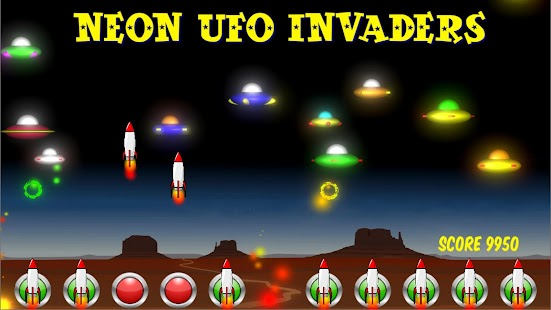 Neon UFO Invaders from Space- screenshot thumbnail