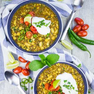 Moroccan Lamb and Turmeric Lentil Soup.