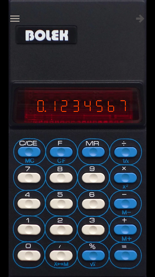 Bolek Calculator- screenshot
