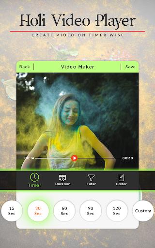 Holi Video Maker 2018 - Holi Slideshow Maker 1.1.0 screenshots 1