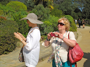 Photo: Louise Magee and Noleen O'Meara happily snapping in the gardens at Rayol Canadel