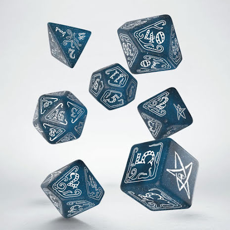 Call of Cthulhu Abyssal & white Dice Set